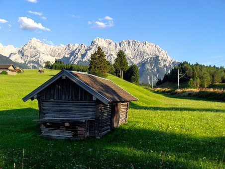 House, Cottage, Hut, Cabin, Mountains, Snow, Farm