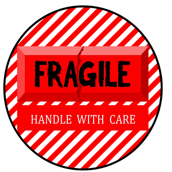 Warning, Sign, Fragile, Care, Label, Sticker, Package