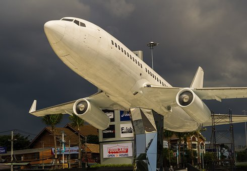Airplane, Plane, Aircraft, Model, Monument, Wings
