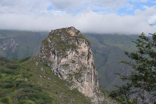 Mountains, Rock, Stone, Trees, Grass, Nature
