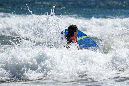 Surf, Waves, Ocean, Beach, Surfing, Power, Summer