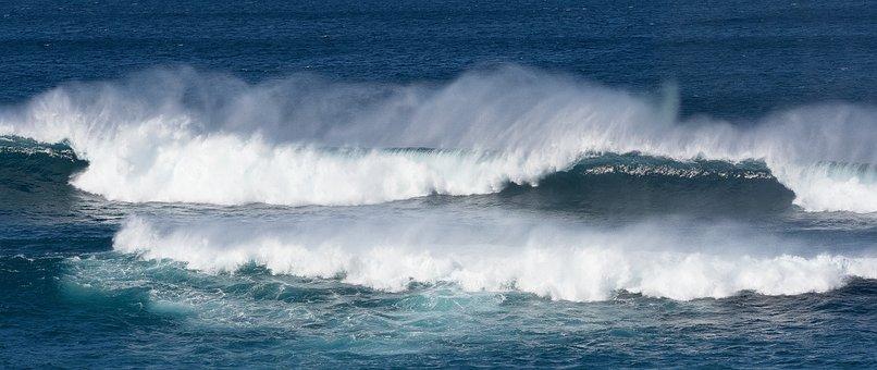 Ocean, Waves, Seascape, Crashing, Breaking Waves, Sea