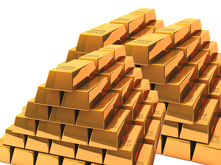 Gold, Stock, Gold Bars, Money, Finance, Wealth, Coin