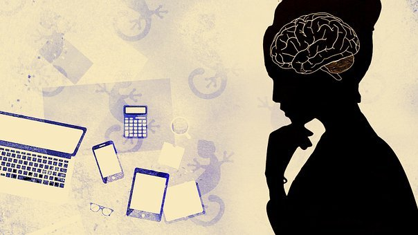 Woman, Brain, Technology, Thinking, Ideas, Person