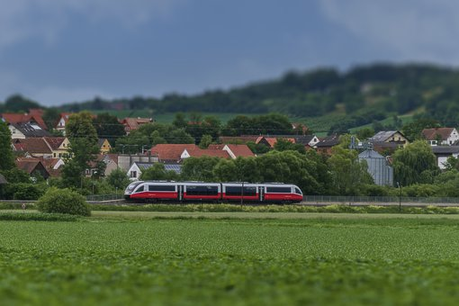 Train, Rails, Travel, Transport, Miniature, Tilt Shift