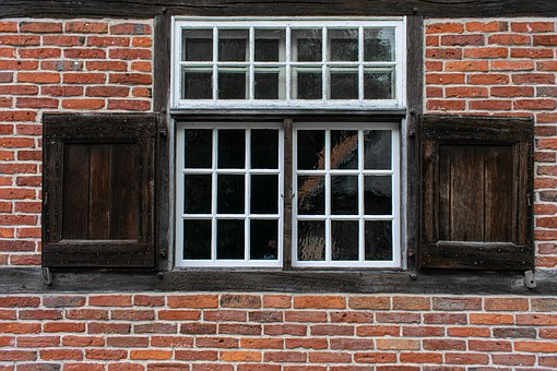 Window, Truss, Brick Wall, Architecture, Building, Old
