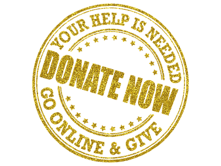 Donate, Donation, Charity, Golden, Typography