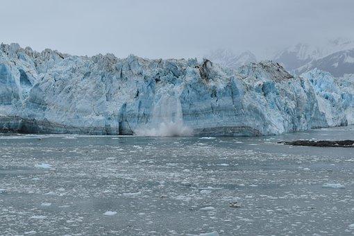Glacier, Alaska, Hubbard Glacier, Calving, Calve