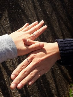 Rings, Hands, Couple, Friends, Jewelry, Accesories