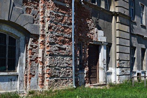 Building, Entrance, Brick, Wall, Door, Window, Monument