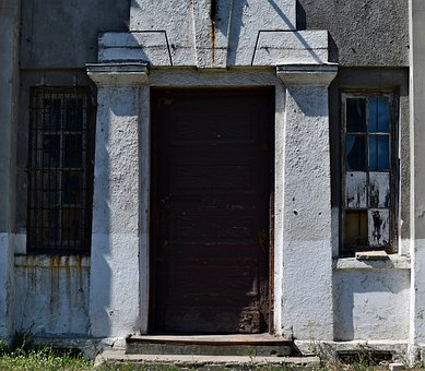 Door, Entrance, Old, Monument, Crash