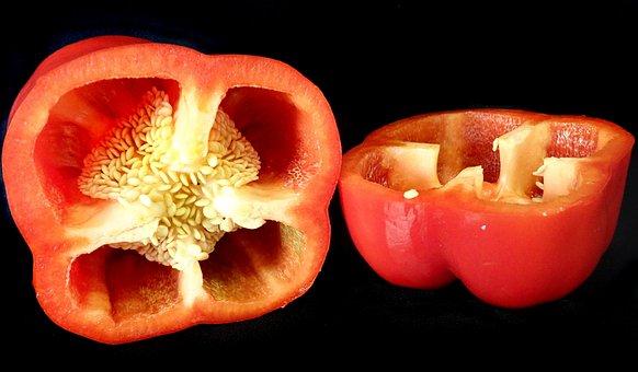 Vegetable, Red, Capsicum, Pepper, Healthy, Food