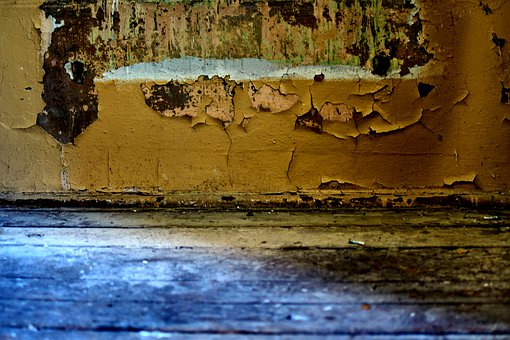 Wall, Floor, Paint, Old, Abandoned, Monument, Wooden