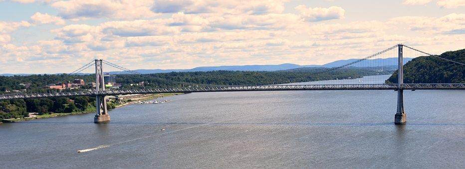 River, Bridge, Boats, Landmark, Hudson, Nyc, Scenic