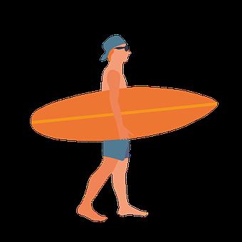 Beach, Man, Wave, Summer, Sea, Surfboard, Ocean, Water