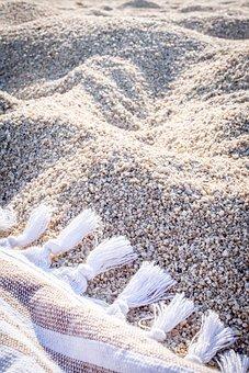 Beach Towel, Sand, Beach, Summer, Vacations, Relaxation