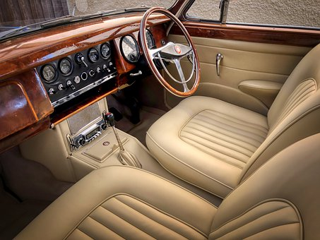 Car, Vehicle, Classic, Interior, Steering Wheel