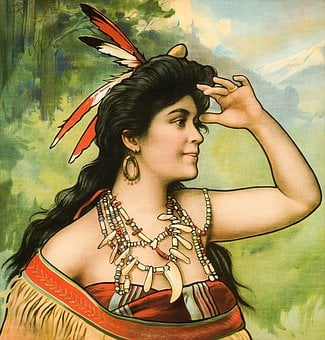 Woman, Feathers, Native, Indian, American, Lady, Female
