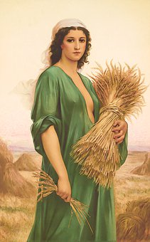 Woman, Wheat, Farm, Field, Girl, Lady, Brunette