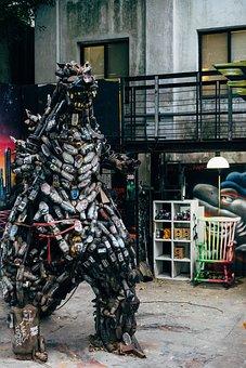 Monster, Figure, Statue, Godzilla, Science Fiction