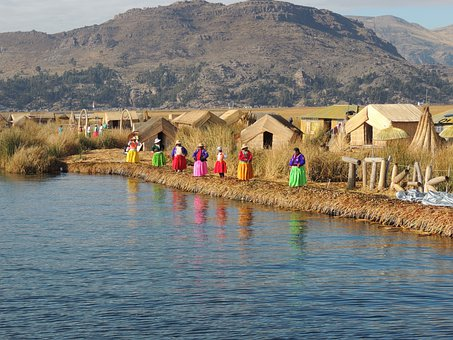 Lake, Nature, Island, Indigenous, Titicaca, Peru