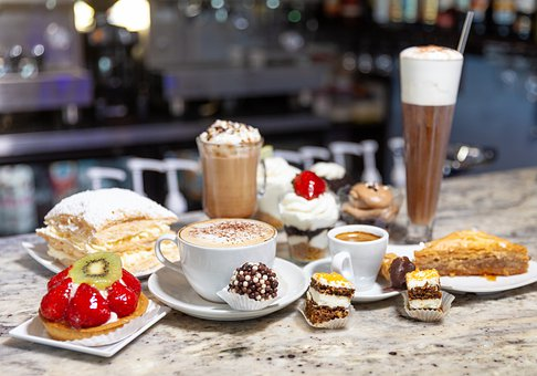 Pastries, Coffee, Drinks, Treats, Desserts, Cakes