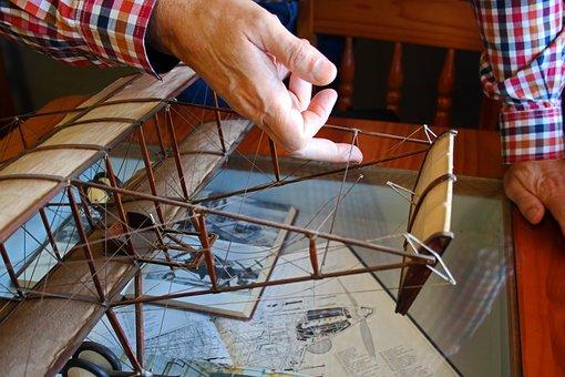 Aeroplane, Plane, Aircraft, Model, Scale Model, Biplane