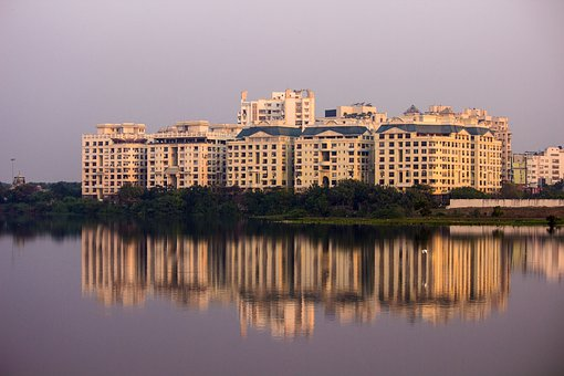 Building, Reflection, Pond, Lake, Water, Chennai