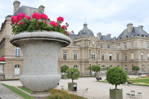 Paris, France, Luxembourg Garden, Senate, Architecture