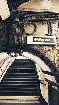 Stairs, Subway, Underground, Station, Railway Station