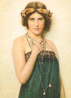 Woman, Jewelry, Gown, Lady, Flapper, Vintage, Portrait