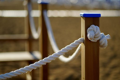 Rope, Knot, Fence, Goal, Wood, Barrier