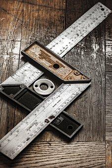 Brackets, Ruler, Measure, Craftsman, Light