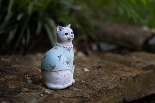 Cat, Feline, Cat Decor, Garden Decor, Garden