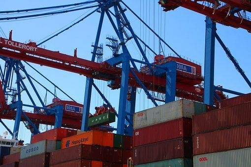 Container, Port, Ship, Crane, Hamburg, Cargo