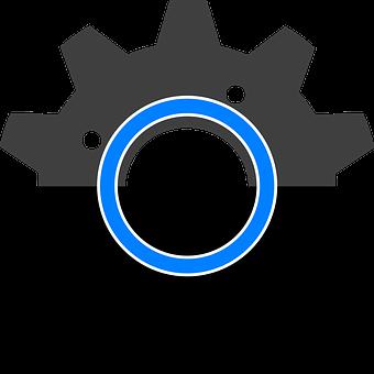 Gear, Black, Symbol, Mechanical, Industry, Machinery