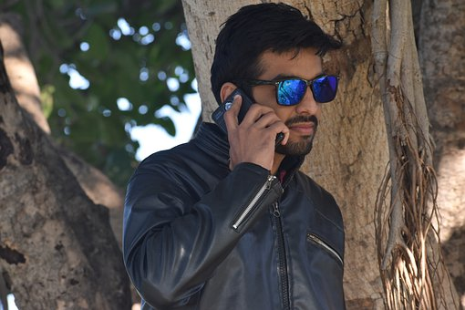 Man, Phone, Sunglasses, Smartphone, Model, Male, Young