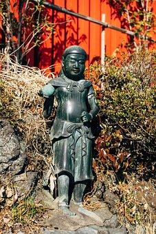 Statue, Sculpture, Warrior, Monument, Bronze, Shrine