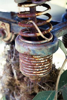 Rusty Spring, Spring, Rust, Vintage, Old, Retro
