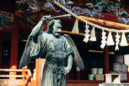 Shrine, Shinto, Mount Takao, Statue, Sculpture