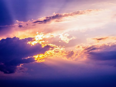 Sunset, Sky, Clouds, Light, Purple, Nature, Sunrise