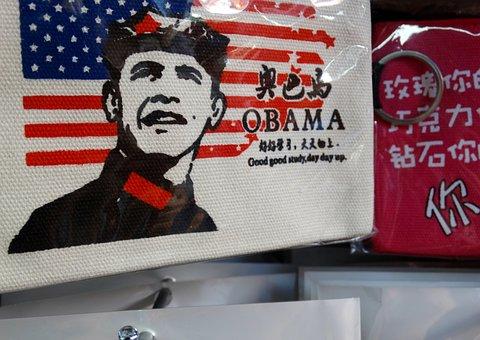 Barack Obama, American Flag, Chinese