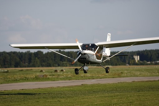 Ultralight, Landing, Plane, Aviation