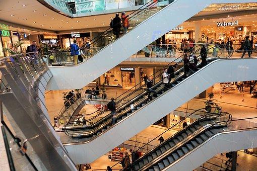 Shopping Centre, Escalator, Shopping, Buy, Architecture