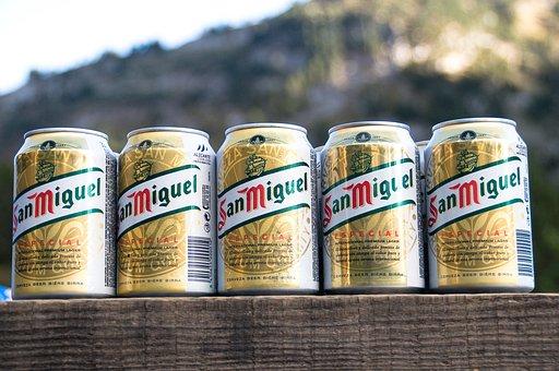 Cans, Beers, Drink, San Miguel, Can Of Beer