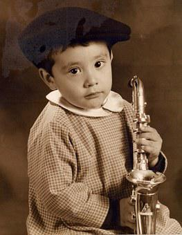 Saxophone, Child, Classical Music, Sepia, Hat Child