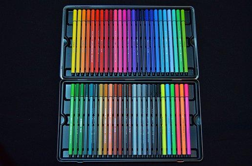 Colour Pencils, Colored Pencils, Color, Ink, Draw, Pens