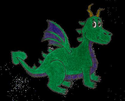 Dragon, Green, Blue, Draw, Pencil, Color Pencil, Eye