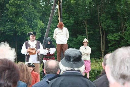 Gallows, Goat Riders, Limburg, Execution, Spectacle
