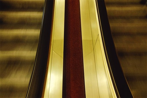 Escalator, Up, Down, Stairs, Climbing Aid, Handrails